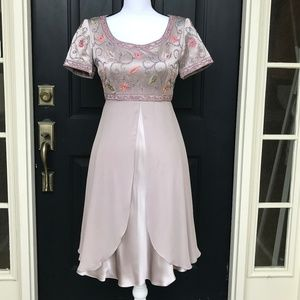 NWT Vintage Kay Unger A-line Satin Cocktail Dress
